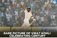 Memes, Celebrated, and Aggressive: RARE PICTURE OF VIRAT KOHLI  CELEBRATING CENTURY After a long time, Virat Kohli is back to his aggressive celebration mode.