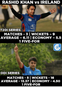 Memes, 🤖, and Khan: Rashid Khan has picked a total of 25 wickets in the T20I & ODI series vs Ireland.