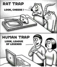 You guys know its true...  ~ FlorentedNight: RAT TRAP  LOOK, CHEESE  HUMAN TRAP  LOOK, LEAGUE  OF LEGENDS You guys know its true...  ~ FlorentedNight