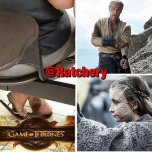 "Children, Game of Thrones, and Journey: @Ratchery  GAME OF IHRONES Game of Thrones story that was never told (Read in your Game of thrones voice)... Ser Jorah was a wild man, he slept a Wilding woman when he was exiled from Westeros back in the day. He didn't use protection at all and contracted ""Greyscale"" on his peen 🍆 .  On his journey he found a roadside Sorcerer 🧙‍♂️ named ""Lord Reade of Duane"". The Sorcerer gave Ser Jorah some Calamine lotion🧴 to rid him of the disease. He was cured of it and continued to travel on his merry way again. What Ser Jorah did not know was that him and that woman actually had a baby girl... The woman then traveled to the ""Town of Maury"" to see if she find Ser Jorah and tell him ""You are the father"". She was embarrassed that she had to go through these steps and was ridiculed because of her Greyscale Feet 🦶 . Stannis Baratheon was dealing with the ordeal of his wife not able to carry children to full term. Stannis being the conniving character he is. Seized on the opportunity and stole the baby and raised her as Princess Shireen Baratheon.... #gameofthrones #khaleesi #jonsnow #serjorah #aryastark  Stay tuned for more Game of Thrones untold truths... 🤣😭😂"