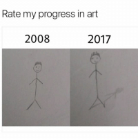 Af, Memes, and Wow: Rate my progress in art  2008  2017 Wow the shadow made it artsy af 🙄 • Follow @savagememesss for more posts daily