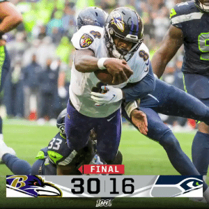 FINAL: @Ravens take down the Seahawks in Seattle! #BALvsSEA #RavensFlock https://t.co/mpVIp1Py6I: RAVEN  33  FINAL  30 16 FINAL: @Ravens take down the Seahawks in Seattle! #BALvsSEA #RavensFlock https://t.co/mpVIp1Py6I