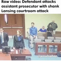 """On Tuesday, 35-year-old Joshua Harding, who was on trial facing two sexual assault charges, pulled from his sleeve what officials have described as a """"shank"""" and tried to stab assistant prosecutor - FULL VIDEO & STORY AT PMWHIPHOP.COM LINK IN BIO: Raw video: Defendant attacks  assistant prosecutor with shank  Lansing courtroom attack  pmwhiphop On Tuesday, 35-year-old Joshua Harding, who was on trial facing two sexual assault charges, pulled from his sleeve what officials have described as a """"shank"""" and tried to stab assistant prosecutor - FULL VIDEO & STORY AT PMWHIPHOP.COM LINK IN BIO"""