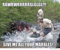 We Know Meme: RAWRWIRRRRRGLGLGL!!!  GIVE MEALL YOURMARBLES!  We Know Meme