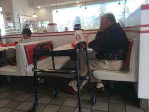 "rawrxja:  ""I saw this elderly gentleman dining by himself, with an old picture of a lady in front of him. I though maybe I could brighten his day by talking to him. As I had assumed, she was his wife. But I didn't expect such an interesting story. They met when they were both 17. They dated briefly, then lost contact when he went to war and her family moved. But he said he thought about her the entire war. After his return, he decided to look for her. He searched for her for 10 years and never dated anyone. People told him he was crazy, to which he replied ""I am. Crazy in love"". On a trip to California, he went to a barber shop. He told the barber how he had been searching for a girl for ten years. The barber went to his phone and called his daughter in. It was her! She had also been searching for him and never dated either. He proposed immediately and they were married for 55 years before her death 5 years ago. He still celebrates her birthday and their anniversary. He takes her picture with him everywhere and kisses her goodnight. Some inspiring things he said;""I was a very rich man. Not with money, but with love""""I never had a single argument with my wife, but we had lots of debates""""People are like candles. At any moment a breeze can blow it out, so enjoy the light while you have it.""""Tell your wife that you love her everyday. And be sure to ask her, have I told you that I love you lately?""Be sure to talk to the elderly. Especially strangers. You may think that you will brighten their day, but you may be surprised that they can actually brighten yours.""   OMG :(: rawrxja:  ""I saw this elderly gentleman dining by himself, with an old picture of a lady in front of him. I though maybe I could brighten his day by talking to him. As I had assumed, she was his wife. But I didn't expect such an interesting story. They met when they were both 17. They dated briefly, then lost contact when he went to war and her family moved. But he said he thought about her the entire war. After his return, he decided to look for her. He searched for her for 10 years and never dated anyone. People told him he was crazy, to which he replied ""I am. Crazy in love"". On a trip to California, he went to a barber shop. He told the barber how he had been searching for a girl for ten years. The barber went to his phone and called his daughter in. It was her! She had also been searching for him and never dated either. He proposed immediately and they were married for 55 years before her death 5 years ago. He still celebrates her birthday and their anniversary. He takes her picture with him everywhere and kisses her goodnight. Some inspiring things he said;""I was a very rich man. Not with money, but with love""""I never had a single argument with my wife, but we had lots of debates""""People are like candles. At any moment a breeze can blow it out, so enjoy the light while you have it.""""Tell your wife that you love her everyday. And be sure to ask her, have I told you that I love you lately?""Be sure to talk to the elderly. Especially strangers. You may think that you will brighten their day, but you may be surprised that they can actually brighten yours.""   OMG :("