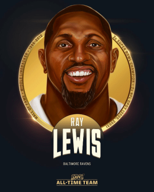 .@RayLewis is one of the 12 LBs selected to the #NFL100 All-Time Team!  🏈 13x Pro Bowler 🏈 2x Super Bowl Champion (SB MVP XXXV) 🏈 7x First-Team All-Pro 🏈 2x Defensive Player of the Year (2000, 2003) https://t.co/QwEs9vpSmq: RAY  LEWIS  BALTIMORE RAVENS  ALL-TIΜΕ ΤEAΜ  HALL OF FAME MIDDLE LINEBACKER 1996-2012  2x SUPER BOWL CHAMPION 2x NFL DPOY (2000, 2003) .@RayLewis is one of the 12 LBs selected to the #NFL100 All-Time Team!  🏈 13x Pro Bowler 🏈 2x Super Bowl Champion (SB MVP XXXV) 🏈 7x First-Team All-Pro 🏈 2x Defensive Player of the Year (2000, 2003) https://t.co/QwEs9vpSmq