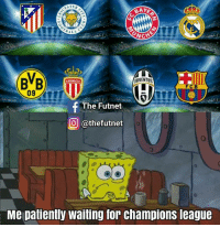 It's back today !! Which 4 will advance ? Comment 👇: RAYE  ALL  ACHE  JUVENTUS  f The Futnet.  CO Gathefutnet  Me patiently waiting for champions league It's back today !! Which 4 will advance ? Comment 👇