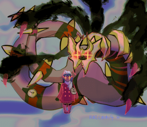 razchung:  pokemon is about a weird little girl and the enormous worm dragon she stole from hell   : RAZ CHVNG razchung:  pokemon is about a weird little girl and the enormous worm dragon she stole from hell