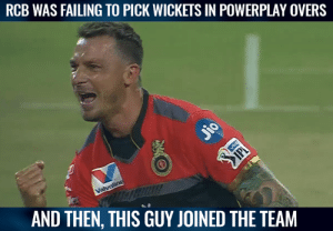 Dale Steyn picked two wickets in the powerplay.  (Pic-Hotstar): RCB WAS FAILING TO PICK WICKETS IN POWERPLAY OVERS  utt!  AND THEN, THIS GUY JOINED THE TEAM Dale Steyn picked two wickets in the powerplay.  (Pic-Hotstar)
