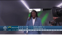 Welcome to the NFL, Shaquem!  @ShaquemGriffin takes the #NFLDraft stage as a member of the @Seahawks with his brother @ShaquillG.  📺: NFLN/ESPN https://t.co/km1hW5pA3I: RD 1 PK 17 S Derwin James FSU  RD 2 PK 48  PICK IS IN  DRAFT  LB Uchenna Nwosu usc  LIVE  LAC RD 6 PK 191  NEXT LAR DAL LAR LAR KC LAR NE TEN ATL NO TB JAX NYJ WAS PHI Welcome to the NFL, Shaquem!  @ShaquemGriffin takes the #NFLDraft stage as a member of the @Seahawks with his brother @ShaquillG.  📺: NFLN/ESPN https://t.co/km1hW5pA3I