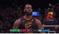 Game, Lebron, and Tissot: RD  :40  24  Beverages  T TISSOT  2BOS  96|ik4CLE  107 | 4th | 1:40124|SRNA 'İBOS LEADS LeBron finishes with 46 points, 11 boards and 9 dimes to force Game 7