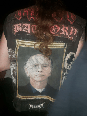 Death, Metal, and Bat: RD  BAT  tat Can't believe this guy found the most brutal death metal patch for his jacket