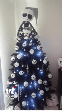 Christmas, Christmas Tree, and Tree: rd  Day  Very Finally, a Christmas tree as dark as my soul 💀😂