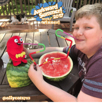 Memes, Wee, and Summer: rd  wee  winner!  @allycats723 Week 1 AwkwardSummer winners! We chose 3 this week instead of one because we loved so many. Each will be contacted and receive a Heart and Brain plush. Tons of chances to win all summer, go to theawkwardyeti.com-contest for details.