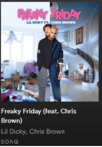 Chris Brown: RDAY  LIL DICKY FT  Freaky Friday (feat. Chris  Brown)  Lil Dicky, Chris Brown  SONG