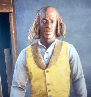 RDR2 default online avatar looks like what Eddie Murphy would have looked like if he had been in Django.: RDR2 default online avatar looks like what Eddie Murphy would have looked like if he had been in Django.