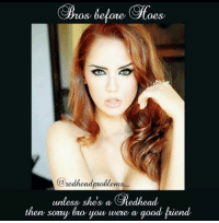 Memes, 🤖, and Fiend: re  a  Cauedheadprablems  unless she's a gedhead  then sorry bro you were a  good fiend Sorry bro 😂 www.instagram.com/redheadproblems_ www.luxelee.com