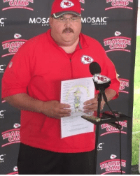 Just Chiefs coach Andy Reid talking to reporters...wait a second 😂😂😂 (via RealMikeWelch-Twitter): RE  RE  MOSA  LIFE  OSAIC  LIL CARE  CAMA Just Chiefs coach Andy Reid talking to reporters...wait a second 😂😂😂 (via RealMikeWelch-Twitter)