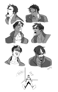 inkydandy:I've been kind of dead lately, so here's some…extreme…Jason expressions. I was really smart and let a ton of work from my job build up on top of the freelancing I do on the side, so I've been playing catch up these past few days and my mood is just aLl oVeR tHe pLaCe. Gotta draw those feelings out.Though it is nice injecting emotion back into my work!: re you done,  Master Jason  HufA  huff  huff  dan  ih inkydandy:I've been kind of dead lately, so here's some…extreme…Jason expressions. I was really smart and let a ton of work from my job build up on top of the freelancing I do on the side, so I've been playing catch up these past few days and my mood is just aLl oVeR tHe pLaCe. Gotta draw those feelings out.Though it is nice injecting emotion back into my work!