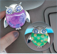 """Cars, Dank, and Love: Rea  Tng, are  g  o  0 This lovely Owl Visor Clip reads """"Hearts are full of LOVE."""" It's perfect to keep important paperwork close in your car! Get it on sale today at The Breast Cancer Site! Purchases fund mammograms, research & care for women in need!  ★ORDER NOW★  http://po.st/mAaZ24"""