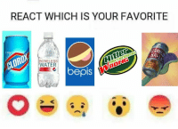 Bepis: REACT WHICH IS YOUR FAVORITE  AHitlen  BRC  CLOROX  BONELESS  WATER  bepis