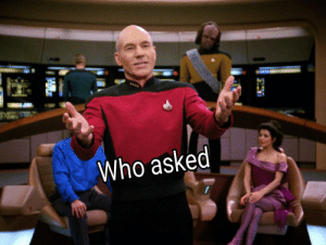 Reaction template, Picard on The Next Generation: Reaction template, Picard on The Next Generation