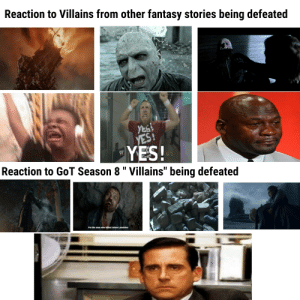 """Dude, Jaime Lannister, and Best: Reaction to Villains from other fantasy stories being defeated  wrestinggs  ovE  YES!  YES!  Reaction to GoT Season 8 """" Villains"""" being defeated  W  I'm the man who killed Jaime Lannister Still can't believe before the season I thought the NK would be one of the best villains ever, boy was I wrong dude ended up being a certified scrub"""