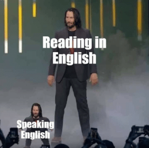 in english: Reading in  English  Speaking  English