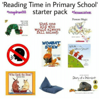 Oh Aussie childhood: 'Reading Time in Primary School'  eteena  starter pack ethoseaussieteens  Possum Magic  THE VERY  HUNGRY  CATERPILLAR  that one  d who  always  faill asleep  by Erie Carle  WHERE t  GREEN SHEEP  Who Sank the Boat?  Pamela Allen  ACKE FRENCH  Diary of a Wombat Oh Aussie childhood