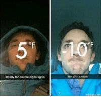 Midwest suffering from the polar vortex (2019): Ready for double digits again  Not what I meant  mematic.net Midwest suffering from the polar vortex (2019)