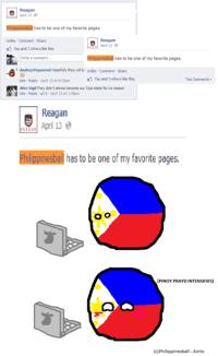 Reagan  Bh polnesb has to be one of my favorite pages.  Unlike Comment Share  You and 3 others ike this.  Ehippinesbal has to be one of my favorite pages.  Write a comment.  Andrej Pejanovic Hopefully they wil b unlike Comment share  You and 3 others like this.  Like Reply Apri 13 at 9:25pm  Alec vigil They didn't almost become our sist state for no reason  H Like Reply 2 April 13 at 1:38pm  Reagan  April 13  LEAGAN  Philippines balhas to be one of my favorite pages.  O O  [PINOY PRAYDINTENSIFIESI  (c)Philippinesba  Anito Senpai noticed me <3 -Anito
