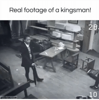 Memes, 🤖, and Real: Real footage of a kingsman!  2B  gifbin.com I had to watch twice!  #diplymix