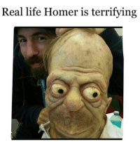 Lmao: Real life Homer is terrifying Lmao