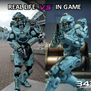 Feeling like a Master Chief 24/7: REAL LIFE  -IN GAME  34  INDUSTR Feeling like a Master Chief 24/7