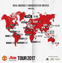 Adidas, Beijing, and Memes: REAL MADRID V MANCHESTER UNITED  #MUTOUR  20L 24  23 JUL  24 JUL  MOScow  12AM  MANCHESTER 10PM  NEW YORK CITY 5PM  ISTANBUL  12AM  BEIJING  5AM  TOKYO  GAM  SANTA CLARA 2PM  MADRID 1PM  SEOUL 6AM  RIYADH  12AM  CAIRO 11PM  HANOL  BANGKOK  4AM  4AM  MEXICO CITY4PM  MUMBAI 2  30AM  BOGOTA  4P  GOS[10PM'i  QUITO 4PM  NAIROBI  12AM  JAKARTA  4AM  BRASILIA 6PM  CAPE TOWN 11PM  SANTIAGO 5PM  BUENOS AIRES 6PM  SYDNEY  7AM  Aow TOUR 2017  IN ASSOCIATION WITH  adidas CHEVROLET  Empower Results Bali, Indonesia 🙌🙌🙌 Where will you be watching? 🔝🔝🔝 . MUTOUR RESPECT mufc manchesterunited mourinho davesaves lindelof darmian mkhitaryan bailly pogba lukaku martial anderherrera rashford philjones daleyblind lingard ashleyyoung valencia romero lukeshaw smalling daviddegea juanmata manutd14_ manutd14_id