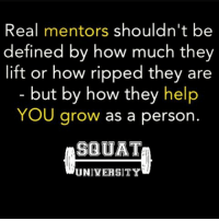 Memes, 🤖, and Media: Real mentors shouldn't be  defined by how much they  lift or how ripped they are  but by how they help  YOU grow as a person.  SQUAT  UNIVERSITY Today we live in a world where if you have 6-pack abs, the ability to lift massive weight, or an Instagram filled with half-naked shots of yourself, you are automatically labeled as a 'fitness expert'. While these coaches may get a ton of likes & follows on social media, this way of branding has unfortunately cost many people time & $$. Everyone now has a 'special' meal plan & generic online coaching for a hefty price!! It's time we change this. REAL coaches help YOU grow as a person - THEY AREN'T there to take all your money. I'm not saying there aren't experts that are crazy strong or have sculpted bodies. Unfortunately the average person can't tell the difference. Coaches NEED TO be spending more time on developing sound periodization and improving their coaching skills. Get OUT of the business of training and start LEARNING to coach. In the end THIS IS HOW OUR CLIENTS-ATHLETES TRULY GET BETTER. __________________________________________ Squat University is the ultimate guide to realizing the strength to which the body is capable of. The information within these pages are provided to empower you to become a master of your physical body. Through these teachings you will find what is required in order to rid yourself of pain, decrease risk for injury, and improve your strength and athletic performance. __________________________________ Squat SquatUniversity Powerlifting weightlifting crossfit training wod workout gym fit fitfam fitness fitspo oly olympicweightlifting hookgrip mobility USAW physicaltherapy lifting crossfitter