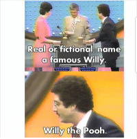 Memes, Fictional, and 🤖: Real or fictional. name  a famous Willy  Willy the Pooh Follow @ladbible 🔥