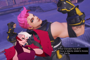 Facts, Tumblr, and Blog: Real Overwatch Fact #737:  Zarya is distantly related to Scorpia  from She-Ra real-overwatch-facts:  Real Overwatch Fact #737:Zarya is distantly related to Scorpia from She-Ra.