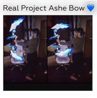 Memes, 🤖, and Epic: Real Project Ashe Bow  0  0 This is so epic 💙 Follow @mystical.ashe leagueoflegends