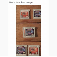 Pokemon, Eclipse, and Moon: Real solar eclipse footage  NTEN3DS  MOON  INTENDR3DS  INTENOC3DS  ENTEN 83DS  SUN  LNA-CTE-BNDE-USA Rare footage.