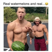 Memes, 🤖, and Challenge: Real watermelons and real Uhhh I'll pass on this challenge 😂 Credit: @coldcutz20