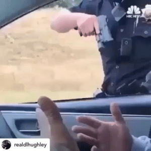 "Chill, Energy, and Guns: realdlhughley This cannot be tolerated as a "" routine traffic stop"" pulling your weapon and looking around waiting for back up ?  He's even at the passengers window 😮 never puts the guy down , it must be difficult to be a police officer , but its harder to  sit in a car with a loaded weapon pointed at you while the officer looks around waiting for back up . Pinche Deputy Dog CHILL 🐶 Posted @withrepost • @realdlhughley This is becoming more and more of a common scenario…WHY??? There is a thing called escalation of force, ever heard of it?! Why are guns being drawn at the onset of these situations? Do you NOT think the possibility of using that weapon (even accidentally) is GREATER AFTER being drawn?? Does it NOT seem to escalate the situation EVERY TIME? #TeamDL #thisisamerica #policebrutality #aftp #AlwaysFilmThePolice #Repost @shanaeyh with @get_repost ・・・ Sooooooo is this now the standard for police to pull a gun on black men during traffic stops?  We have to focus our energy to stop this terrorism. Every cop that pulls a gun has without cause (FYI I'm white & black men scare me is not cause) needs to be met with immediate protests outside their precincts until they are terminated, even if it takes months. WE have to put so much pressure on the police department & the officer that they give in to our demands of equal treatment! This has to stop 🛑"