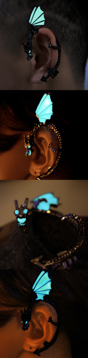 Cute, Family, and Friends: reality-glitch-rg:  nerdyalaskan:  cute-aesthetics-things:  Unique Glowing Dragon Ear Cuff Clip. Unique and Stylish! The perfect Gift for your friends and family!= GET YOURS HERE =  @bananadaquiris  How cool is this!!!!!  I've got one of these.