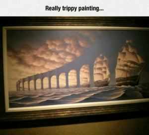 awesomesthesia:  Surrealistic Painting: Really trippy painting... awesomesthesia:  Surrealistic Painting
