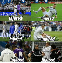 But but we're fucking lucky! 😑  #LionBeing: @RealMadrid. DNA  @officialrm dna  @rm dna EL www.realmadriddna.com  Injured  Injured  Injured  Injured  Fly  Emirates  canitas  Injured  Injured But but we're fucking lucky! 😑  #LionBeing