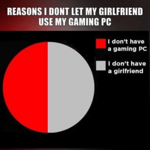 Girlfriend, Irl, and Me IRL: REASONS I DONT LET MY GIRLFRIEND  USE MY GAMING PC  I don't have  a gaming PC  I don't have  a girlfriend me irl