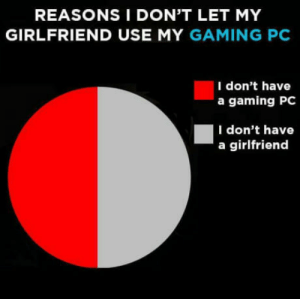 Club, Life, and Tumblr: REASONS I DON'T LET MY  GIRLFRIEND USE MY GAMING PC  I don't have  a gaming PC  I don't have  a girlfriend laughoutloud-club:  Basically my life at this point