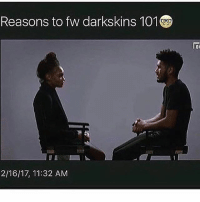 okay so i just watched this & his ass is officially Dick Of The Year . congratulations fuck boy .: Reasons to fw darkskins 101  2/16/17, 11:32 AM okay so i just watched this & his ass is officially Dick Of The Year . congratulations fuck boy .