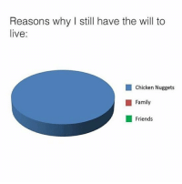 Family, Friends, and Memes: Reasons why I still have the will to  live:  Chicken Nuggets  ■ Family  Friends 🤣Choose one