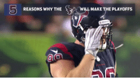 Memes, 🤖, and Via: REASONS WHY THE  WILL MAKE THE PLAYOFFS 5 reasons why the @houstontexans will make the playoffs in 2018!  (via @MarcSesslerNFL) https://t.co/iy2Goasadw